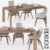 Dining chair and table Porada 2