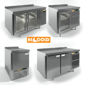 Table cooled by HICOLD GN 11 TN_HICOLD GNG 11 HT_HICOLD GNG 1 HT_HICOLD GNE 1 TN