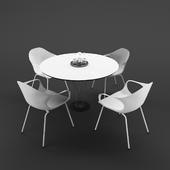 Vitra set of table and chairs