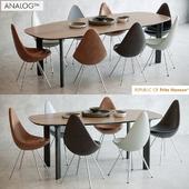 Analog table, Drop chair