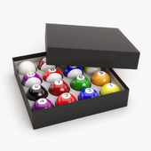Pool Balls in Box