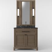 Bathroom Furniture Dark 90cm