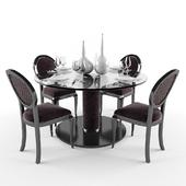 Elegant Velvet Lacquered Dining Chair