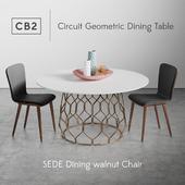CB2 Circuit Geometric Dining Table
