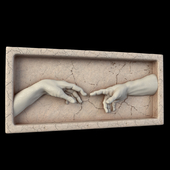 """Bas-relief """"La creazione di Adamo"""""""
