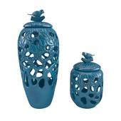 vase of dolomite blue