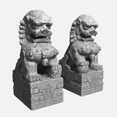The celestial lions of the Buddha