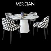 Table Meridiani OWEN & Chair Meridiani ODETTE
