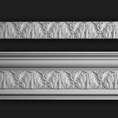 Molding gypsum with ornament