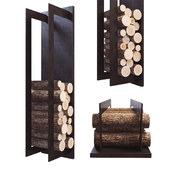 Firewood Storage Rack on wall