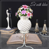 Decorative set with lilies