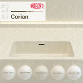 Dupont Corian Kitchen Countertops White 2