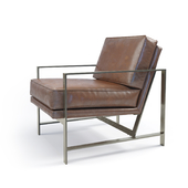 West Elm Metal Frame Chair (Aged)