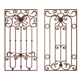 Wrought iron grating