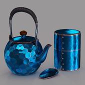 Японский чайный набор из кованой меди