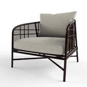 McGUIRE PLAID LOUNGE CHAIR