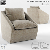 Harper Swivel Chair by Kelly Wearstler