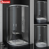 Semi-circular shower cabins Ravak BLIX