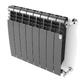 Heating radiator BiLiner Noir Sable by Royal Thermo