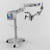 Motorized dental microscope