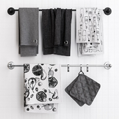 Zara Grey Towels on Railing