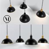 Hubert Pendant Tribeca by Soren Rose, Menu / Ceiling lamp black & bronze