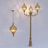 Классический уличный светильник Sirius Double