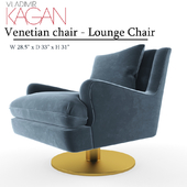 Venetian Chair - Lounge Chair  Round Leg