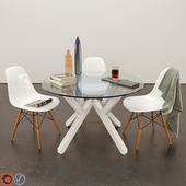 Dining Table - Mikado & Eames Chair