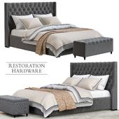 Restoration hardware grey bedroom