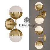 Sconce Copper Light Bra Duos Brass