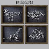 RH Dinosaur String Art