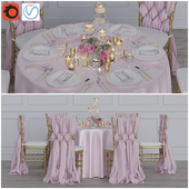 Wedding table for 6 persons Corona + Vray