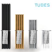 Decorative radiator set Soho Bathroom v1 by Palombo / Vertical wall-mounted