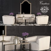 CURATIONS LIMITED set of upholstered furniture