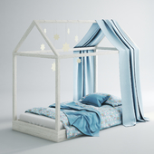 Children's bed-house 01 (Blue)