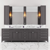 Carrara Marble Double Bathroom Furniture