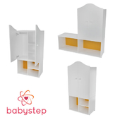 OM Wardrobe children's babystep Classics, 1230 closed with a removable shelf