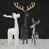 Moose sculptures