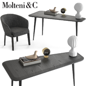 Molteni & C Chelsea Chair and Belsize Table
