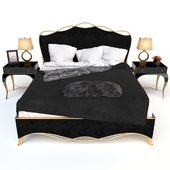 Caracole Ribbon bed & Parisian nightstand