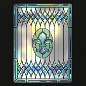 Stained glass, set