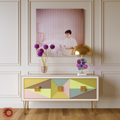 Harlequin console and Globo table lamp