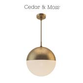 Suspended lamp copper light pendant orb