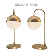 Table lamp cedar moss table lamp