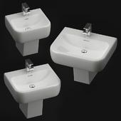 Wall-mounted washbasin RAK Metropolitan