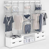 commercial equipment with clothes