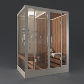 Cabin with Finnish sauna FRANK F907R right-side