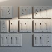 NEMA 5-15R Outlet & Rocker Light Switches