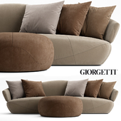 Sofa and pouf Giorgetti SOLEMYIDAE